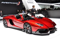 A cool Lamborghini Aventador convertible....2.1 million dollars.