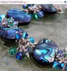 blue abalone bracelet