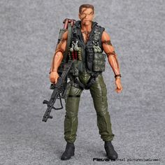 "NECA Commando 30th John Matrix Arnold Schwarzenegger PVC Action Figure Collectible Model Toy 7"" 18cm"