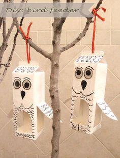 DIY: Owl Shaped Bird Feeder