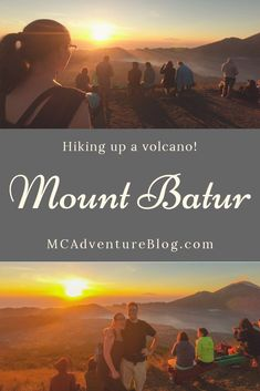The magical sunrise trekking tour up Mount Batur, a chance to see the beautiful sunrise over Bali Asia Travel, Travel Tips, Travel Guides, Gili Air, Gili Island, Beautiful Sunrise, Amazing Destinations, Travel Pictures, That Way