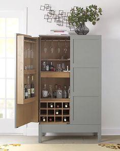 Super kitchen bar cabinet crate and barrel Ideas Crate And Barrel, Crate Bar, Barrel Bar, Crate Table, Dog Crate, Armoire Bar, Bar Interior, Basement Bar Designs, Basement Ideas