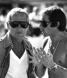 Paul Newman and Jackie Stewart.
