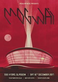 Mogwai Art Deco Concert Poster