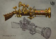 ArtStation - Warhammer Online(2009), ji zhang Warhammer Online, Fb Games, Steampunk Weapons, Castle In The Sky, Warhammer Fantasy, Warhammer 40k, Weapon Concept Art, Dark Elf, Mechanical Design