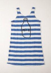 Sleeveless Dress Stripes & Milk
