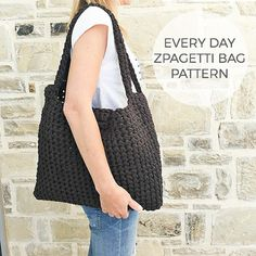 Pattern every day zpagetti bag by Soulmadehome on Etsy