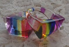 Lucite rings- I clearly remember this fad... every girl had them!