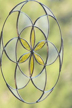 Stained glass Home decor  seed of life suncatcher  by Mownart, $46.00