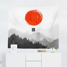 Searching for a Scenic Japanese Tapestry? Shop for high quality Wall Tapestries designed by independent artists on W. Japanese Wall Art, Japanese Bedroom, Japanese Tattoo Art, Tapestry Design, Wall Tapestry, Cool Tapestries, Japanese Gifts, Art And Technology, State Art