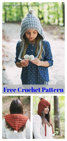 All Sizes Pompom Hood Free Crochet Pattern