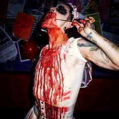 #flameboyantentertainment #bloodbride #skewered #blood #performance #performer #halloween #event #hauntedhouse #theme #trash #makeup #gay #instagay #gaystagram #instaqueer #queer #freakshow #entertainer #entertainment #sanctuary #basingstoke #halloweenhoney #bodyart #bodymods #ink #tattoos #piercings #gayswithtattoos #bride