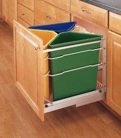 LIXO INTELIGENTE | #ficaadica de como montar um esquema de coleta reciclável dentro da sua cozinha, sem tomar muito espeço. #reciclagem #reciclar #Tecnisa