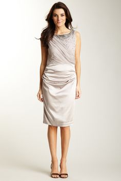 Suzi Chin  Charms Beaded Draped Dress - hautelook.com