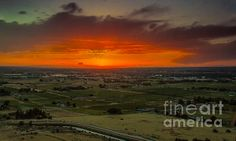 Sunset Over The Valley:  See more images at http://robert-bales.artistwebsites.com/