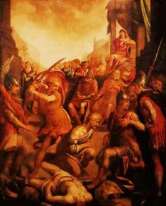 Het martelaarschap van de Heilige Jacobus de Meerdere door Anthonie Blocklande uit 1572. Dit is het vroegst bekende werk van deze kunstenaar, van wie veel werk verloren moet zijn gegaan tijdens de Beeldenstorm. Typerend zijn de elegante figuren in ingewikkelde houdingen die de dramatiek benadrukken, waarbij het moment van martelaarschap, de onthoofding, centraal staat. De apostel Jacobus was leider van de christelijke gemeenschap in Jeruzalem, waar hij in het jaar 44 ter dood werd gebracht.