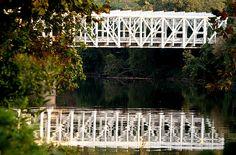 The Falls Bridge in Philadelphia spanning the Schuylkill River