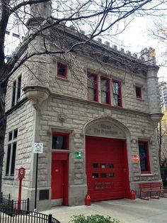 East Chicago Avenue Firehouse 10.28.2012 by sjbnchicago, via Flickr