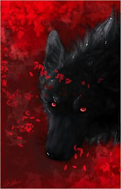 Im clearly talking about wolf girls. The black wolf tends to stand. Black Wolf By Zakraart Deviantart Com On Deviantart Wer. Anime Wolf, Wolf Spirit, My Spirit Animal, Fantasy Wolf, Fantasy Art, Fantasy Creatures, Mythical Creatures, Wolf With Red Eyes, Wolf Hybrid