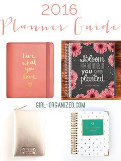 2016 Planner Guide » Girl, Organized