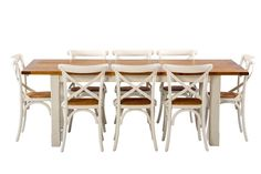 Tuscan Large Extension Package with French Cross Chairs - Products - 1825 interiors