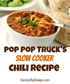 This easy 2-in-1 slow cooker chili recipe is easy and delicious!  | SavingByDesign.com