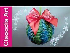 Новогодние игрушки, плетеные из газетных трубочек. Три МК | oblacco