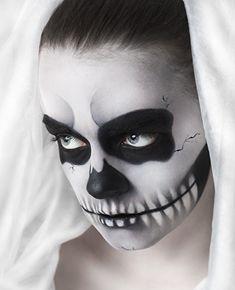 ber ideen zu totenkopf make up auf pinterest calavera make up halloween make up und. Black Bedroom Furniture Sets. Home Design Ideas