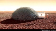 Following a competition by NASA to seek ideas for potential 3D-printed Mars habitats, French firm Fabulous was inspired to design a concept shelter dubbed Sfero. It could be 3D-printed on the planet using locally-available materials.