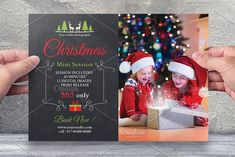 Christmas Mini Session Template-V413 by Template Shop on @creativemarket