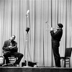 Herman Leonard   Dizzy Gillespie & Sonny Stitt, NYC, New York, 1953