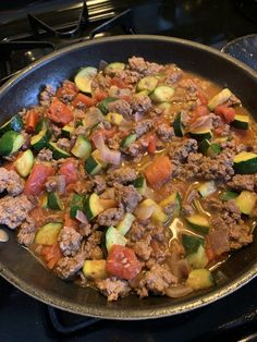 Super Easy, One Pan, Keto Dinner of Ground Beef and Veggies – Hydrangeas Blue