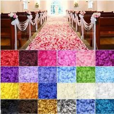 100 Quality Silk Rose Petals–To line the aisle with?
