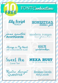 Favorite Font Combinations | Free Font Friday