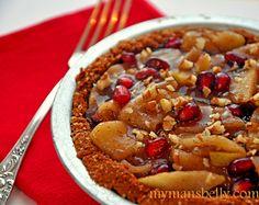 apple pie, easy apple pie, healthy apple pie, almond crust, apple pie recipe