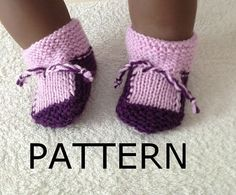 PDF knitting patternDIY tutorialBaby Booties Toasties by NesrinArt, $3.99