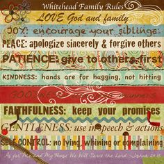 Family Rules Canvas, Digital style | Mrs. Homeschool