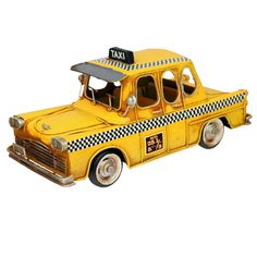 New York City Vintage Taxi Cab Centerpiece | World Travel Theme Party Decorations