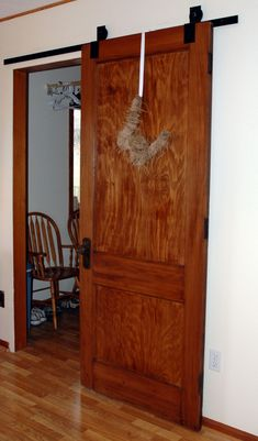 Barn doors today are becoming part of interior decoration in many houses because they are stylish. When building a barn door on your own, barn door hardware kit Sliding Barn Door Track, Diy Sliding Door, Interior Barn Doors, Interior Exterior, Exterior Doors, Diy Interior, Bathroom Interior, Modern Bathroom, Interior Decorating