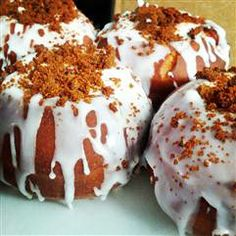 """The s'mores donut, which some have dubbed """"the s'monut,"""" at New York's Macaron Parlour."""