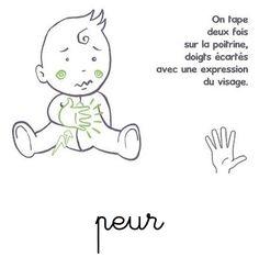 Peur langue signes bébé