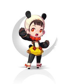 ArtStation - SD Oriental Character, . nezzbe .