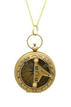 Sundial Compass Necklace