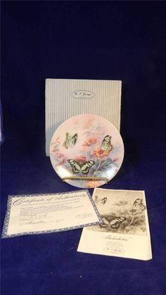 1988 W.S. George Lena Liu Malachites Butterflies On Gossamer Wings Plate MINT / $32 inc shipping