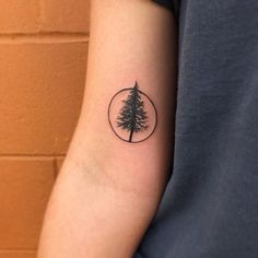 Tattoos - 30 Simple and Easy Pine Tree Tattoo Designs for Natural living