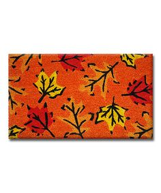 Another great find on #zulily! Fall Leaves Doormat #zulilyfinds