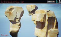 ArtStation - Stylized Modular Rocks - UE4, Rodolfo Fanti