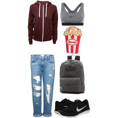 Untitled #57 by thyrabruemlvbugt on Polyvore featuring polyvore, fashion, style, Frame Denim, NIKE, Vans and H&M