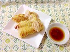 「白菜で巻き巻き♪ヘルシー餃子(o^^o)」皮のかわりに白菜で!しかも鶏ひき肉使用でとってもヘルシーです(o^^o)【楽天レシピ】