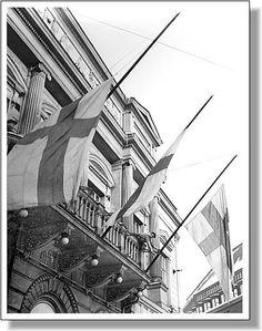 Helsinki, 13 March 1940. Flags at half-mast in Helsinki on 13 March
